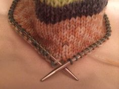 """knit socks on a 12"""" circular needle! Pattern included"""