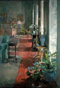Susan Ryder.  Interior, Anjou (oil on canvas)