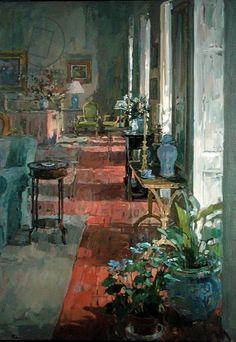Susan Ryder.  Interior, Anjou (oil on canvas)