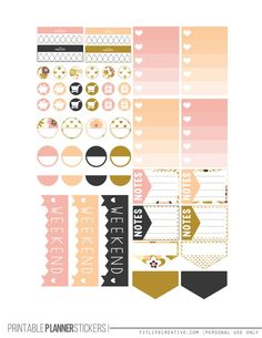 Golden Flowers Planner Stickers - Fit Life Creative