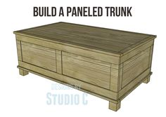 Free DIY Woodworking Plans to Build a Paneled Trunk I really want to build this…
