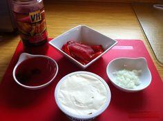 Toronto Teacher Mom: VH Sauces Roasted Red Pepper and Cream Cheese Dip Recipe - Vh Sauces, Cream Cheese Dips, Roasted Red Peppers, Dip Recipes, Salad Dressing, Toronto, Teacher, Mom, Desserts