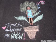 Thank you for helping me grow Chalk Art