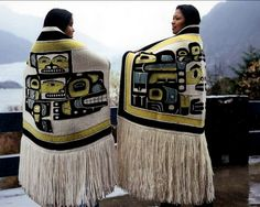 woven blankets by Anna B Ehlers, master weaver from the Chilkat tribe in Alaska