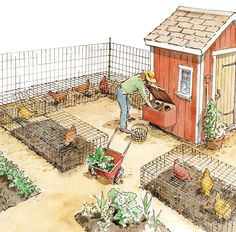 "... As if fresh, nutritious eggs and homegrown roast chicken dinners weren't reason enough to raise your own poultry: You can ""recoop"" much of the expense of raising chickens by putting their manure to work in your garden and enlisting your birds for organic pest control.  #organicpestcontrol #raisingchickens"