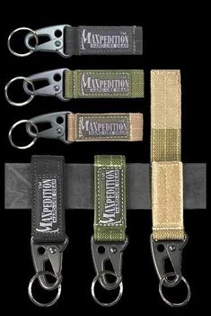 The Keyper is an advanced key retention system that allows quick belt attachment and detachment with velcro, adjusts to fit various belt widths. An alloy snaphook holds keys or a pair of gloves.