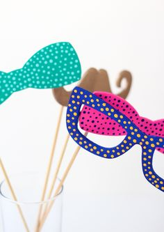 DIY Painted Photo Booth Props