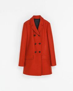 SHORT DOUBLE BREASTED OVERCOAT - Coats - WOMAN | ZARA Greece
