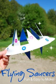 Find a super-simple tutorial to make a paper plate flying saucer toy that looks REALLY COOL when it is thrown like a frisbee and will get the kids outside to have some out of this world fun! {One Time Through}