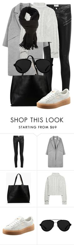 """Untitled #2280"" by annielizjung ❤ liked on Polyvore featuring Yves Saint Laurent, Azalea, Bamford, Puma, 3.1 Phillip Lim and Acne Studios"