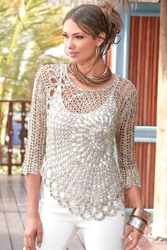 CROCHET FASHION TRENDS exclusive crochet  blouse  by LecrochetArt, $230.00