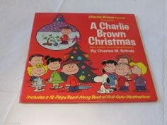 A Charlie Brown Christmas Charles M Schulz Record LP vinyl Music Story book RARE #Soundtrack