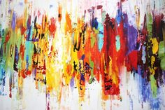 Art Painting wall art large painting abstract by jolinaanthony Large Painting, Painting Abstract, Pastel Paper, Pretty Room, Colorful Paintings, Floating Frame, Large Wall Art, Bunt, Original Paintings