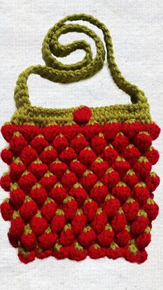Hot Couture Handmade Unique Crochet Strawberry by SimArtShop
