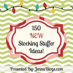 150 New Stocking Stuffer Ideas - some truly good suggestions (not just the usual soap, deodorant, razor blades, candy, etc.) Prices range from DIY (free) to extravagant. Also check out the link to her original 150 Stocking Stuffer Ideas from last year.
