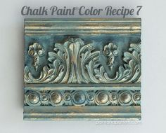 Step by step furniture painting tutorial. Inspiring Chalk Paint color recipes to use on carved furniture surfaces and crown moldings on Paint and Pattern. Chalk Paint Techniques, Chalk Paint Projects, Chalk Paint Furniture, Paint Stain, Paint Finishes, Shabby, Chalk Paint Colors, Chalk Paint Color Combinations, Chalk Painting