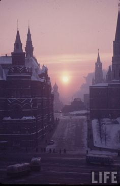 Photo of Moscow, taken by an american photographer working for Life magazine