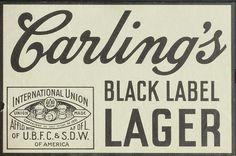 Carling's Black Label Lager