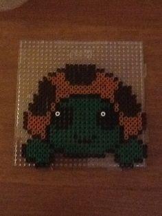 Een schildpad van strijkkralen