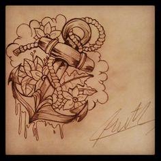 Anchor tattoo design.