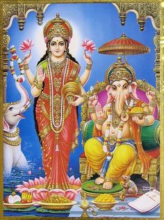 Lord Ganesha goes through the hallways of my life, opening closed doors and Lady Lakshmi walks through these now open doors bringing prosperity with her. All of my gratitude to them both!