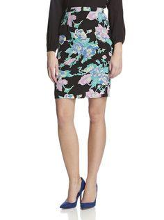 Secretary Skirt by Yumi Kim | Silk, exposed back zipper runs down entire length of skirt; back slit.