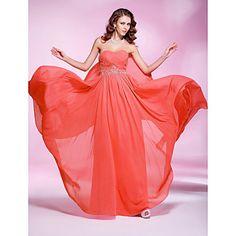 Sheath/ Column Sweetheart Floor-length Chiffon Evening/Prom Dress - USD $ 88.49