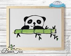 Panda SVG Watercolor Bear Clipart Drawing Vector Cut Files for Cricut and Silhouette or Printing How To Make Stickers, Clear Stickers, Succulents Drawing, Bear Clipart, Rabbit Drawing, Design Bundles, Graphic Illustration, Illustrations, Handmade Art