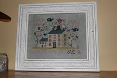 Kajsa's stitching and more: Summer House from Blackbird Designs framed!
