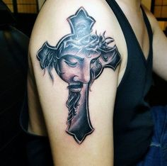 Jesus Cross Tattoo by hassified.deviantart.com on @DeviantArt @hassified #jesus…