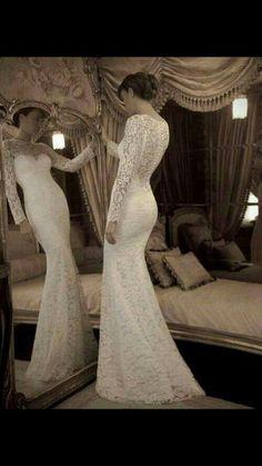 Vestido novia encaje manga larga. #Blog #Innovias #Vestidomangalarga