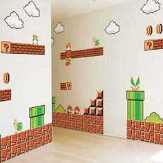 Mario Wall Stickers are the perfect stickers for Mario fans. On this page you will find the best Mario wall stickers for you or for your children,. Super Mario Bros, Super Mario Brothers, Nursery Wall Decals, Vinyl Wall Decals, Wall Stickers, Nintendo Room, Buy Nintendo, Mario Room, Baby Center
