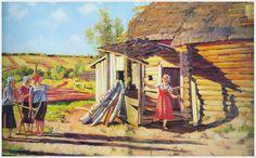 ◄ Юон Константин Федорович (1875-1958) «Первые колхозницы. В лучах солнца. Подолино» 1928