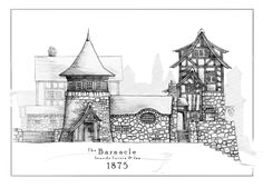 The Barnacle [pencil] by SirInkman inn tavern restaurant city town capitol map cartography   Create your own roleplaying game material w/ RPG Bard: www.rpgbard.com   Writing inspiration for Dungeons and Dragons DND D&D Pathfinder PFRPG Warhammer 40k Star Wars Shadowrun Call of Cthulhu Lord of the Rings LoTR + d20 fantasy science fiction scifi horror design   Not Trusty Sword art: click artwork for source