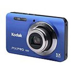 Kodak FZ51-BL PIXPRO 16.2 Megapixel Compact Camera - Blue - 2.7 LCD - 16:9 - 5x Optical Zoom - 6x - Optical (IS) - 4608 x 3456 Image - 1280 x 720 Video - PictBridge - HD Movie Mode