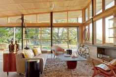 High roof. Lots of glass  Our 30 Favorite Living Rooms - Back to the Future | California Home + Design