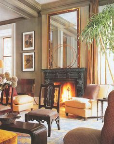 I have published posts on the work of interior designer Steven Sills before, and I never tire of his spectacular work. To see more of Sill'. Home Interior Design, Interior Styling, Interior And Exterior, Interior Decorating, Traditional Interior, Contemporary Interior, Elegant Homes, Living Room Inspiration, Home