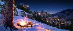3D Night Render for an upcoming villa project at   shimla hills.