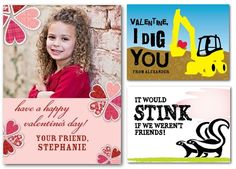 Printable Valentine's for school classmates