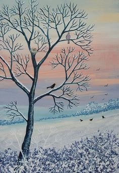 Winter Tree- available on etsy https://www.etsy.com/uk/listing/222513253/winter-tree-acrylic-original-on