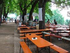 Biergartens in Freiburg, Germany