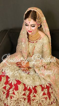 A-Line Wedding Dresses Collections Overview 36 Gorgeou… Bridal Dupatta, Pakistani Bridal Makeup, Bridal Mehndi Dresses, Nikkah Dress, Pakistani Wedding Outfits, Indian Bridal, Pakistani Dresses, Shadi Dresses, Bridal Looks