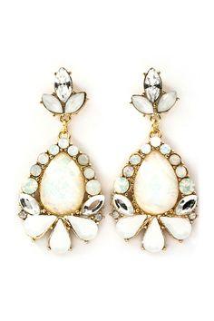 Iridescent Elizabeth Earrings on Emma Stine Limited