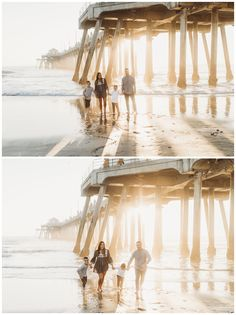 The Huntington Beach Pier is always a perfect spot for beautiful family photos with yummy sunset lighting. This family will give you all the family photo outfit inspiration you'll need, too. I'm Nola, an Orange County family photographer and I'd love to capture your family's memories! Huntington Beach Pier, Seal Beach, Beach Family Photos, Beach Sessions, Family Photo Outfits, Portrait Inspiration, Children And Family, Beautiful Family, Photo Look