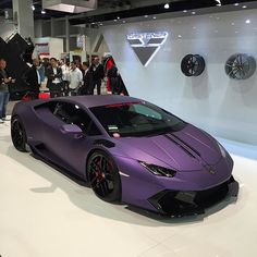 Because we're certain you've never seen a Purple #Lamborghini Huracan before. #semashow #sema  SEMA 2015