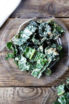 Kale caesar with Four-Minute Egg Dressing, Parmesan and Toasted Breadcrumbs