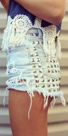 Those shorts are way too short. But I like the design. And that top.