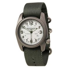 Bertucci 12706 Men's A-2T Field Colors White Dial Defender Drab Nylon Strap Watch