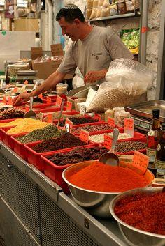 At the market. Israel