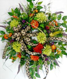 Beautiful front door wreath